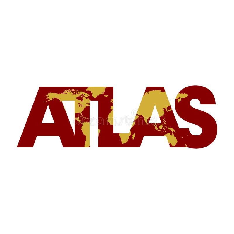 Diseño del logotipo del icono del atlas ilustración del vector