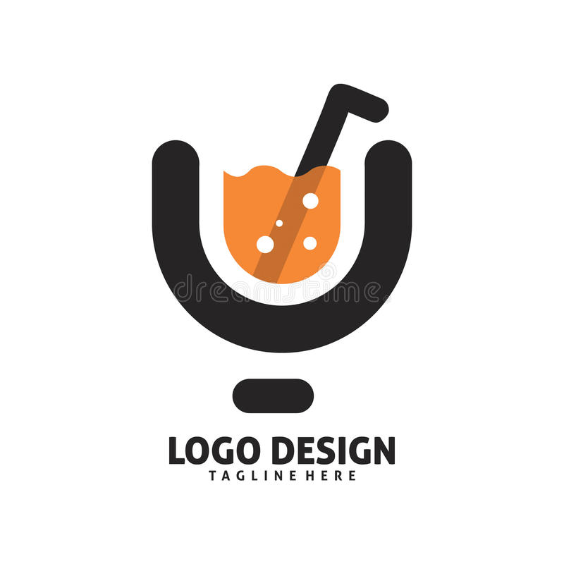 Diseño del logotipo del jugo libre illustration