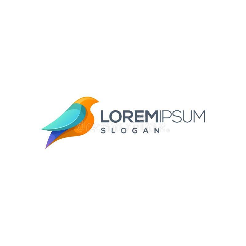 Diseño del logotipo del pájaro agradable para su compañía stock de ilustración