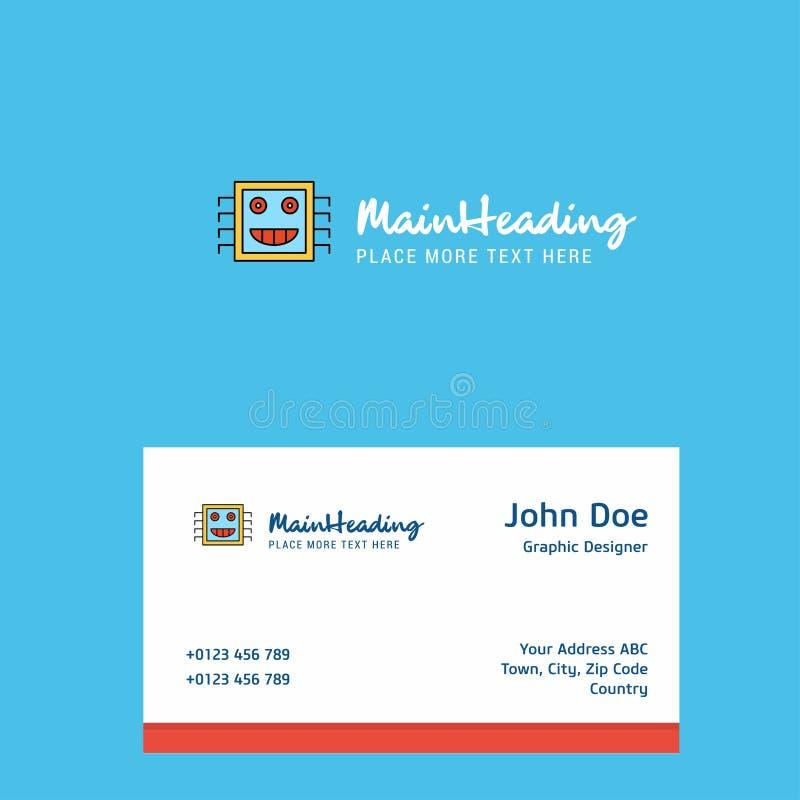 Diseño del logotipo del procesador con la plantilla de la tarjeta de visita Identidad corporativa elegante - El fichero del vecto libre illustration