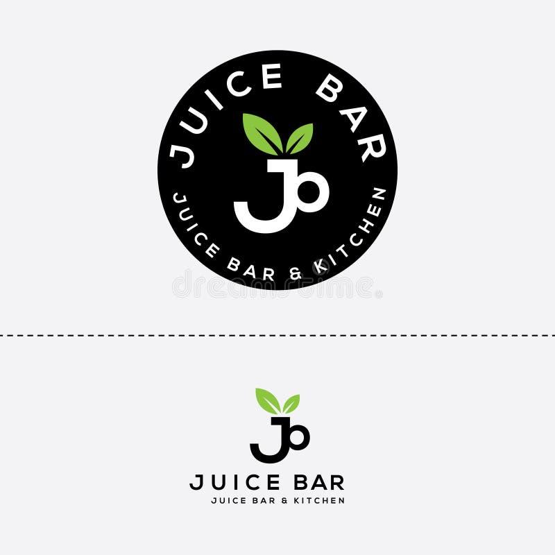 Diseño del logotipo del vector del bar de zumos libre illustration