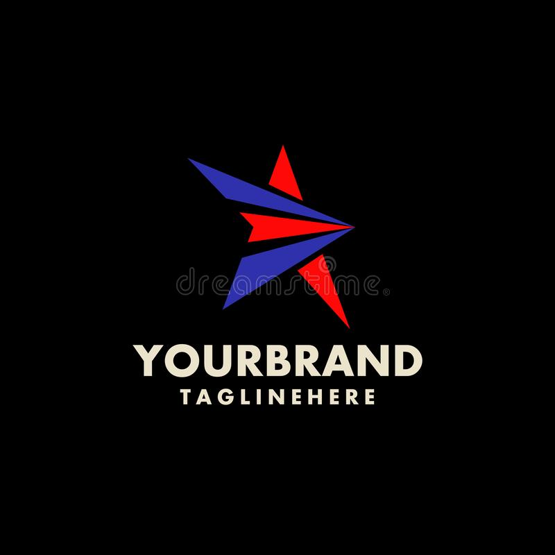 Diseño del logotipo del vector de la estrella que califica identidad corporativa Vector moderno simple de la estrella stock de ilustración