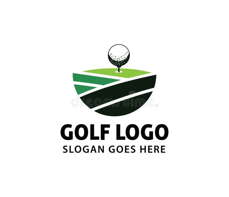 Diseño del logotipo del vector de la liga del campeonato de la comunidad del campo del curso del deporte del golf ilustración del vector