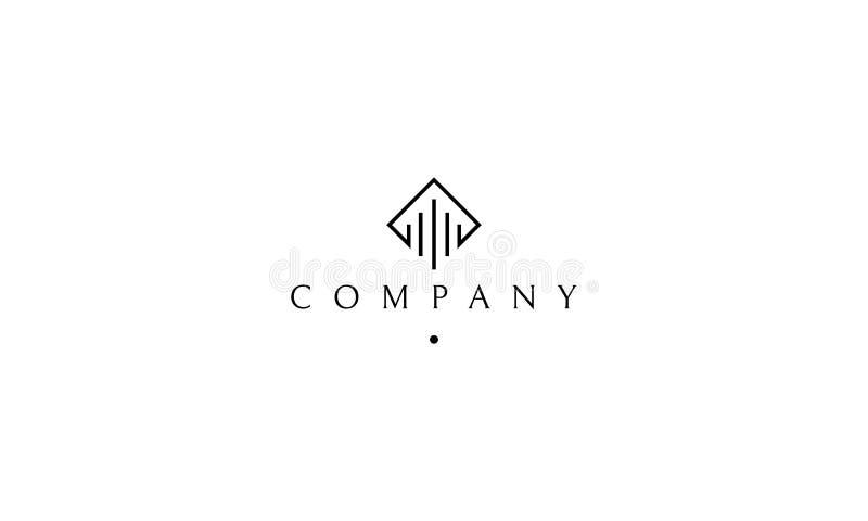 Diseño del logotipo del vector del negro del Rhombus del negocio de la columna de las propiedades inmobiliarias libre illustration