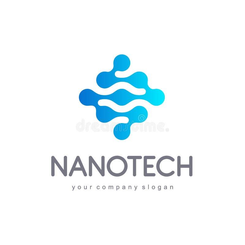 Diseño del logotipo del vector para el negocio Nanotech, innovación, tecnología, ciencia ilustración del vector