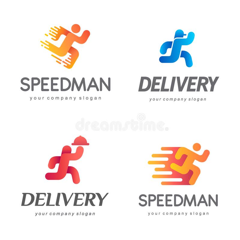 Diseño del logotipo del vector para el servicio de entrega libre illustration