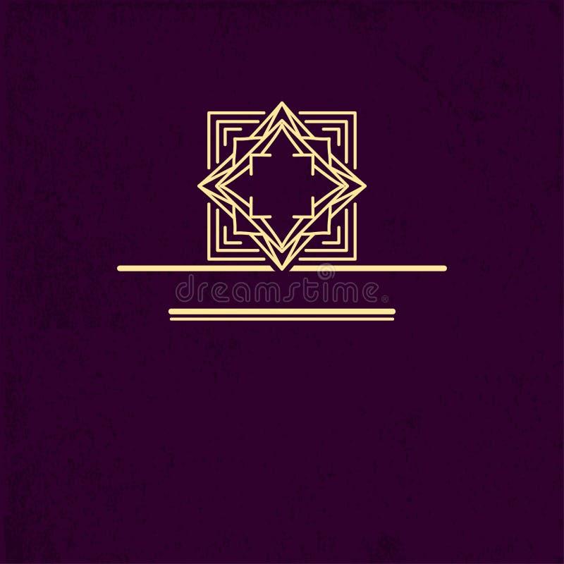 Diseño del logotipo del VIP Plantilla linear geométrica del monograma Marca de la distinción Muestra universal del negocio para l stock de ilustración