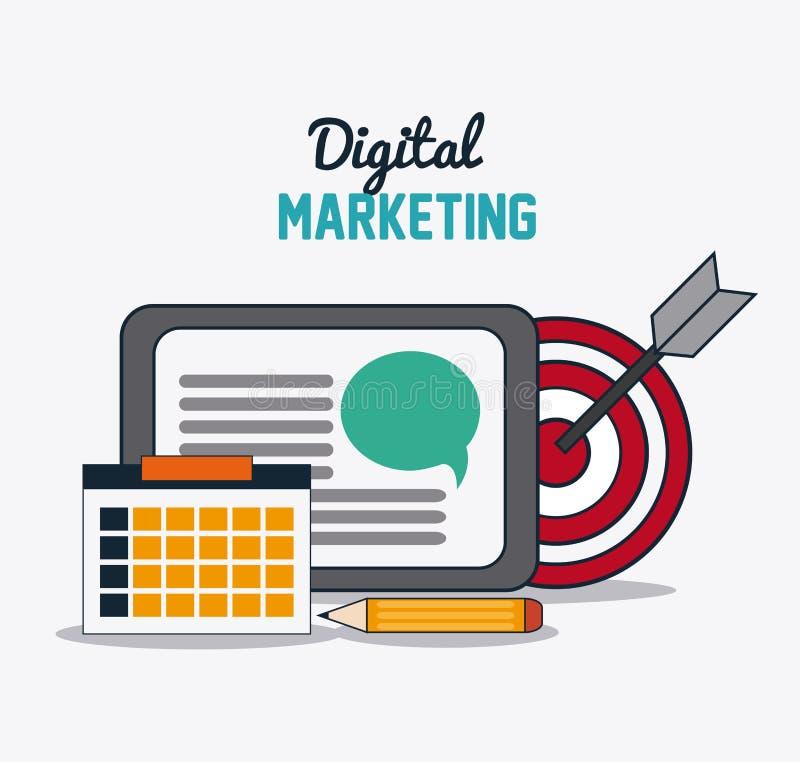 Diseño del márketing de Digitaces Ejemplo del comercio electrónico conce de Internet stock de ilustración