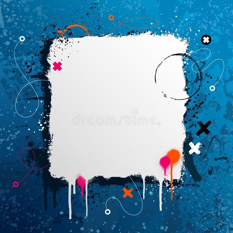 Diseño del marco de Grunge ilustración del vector