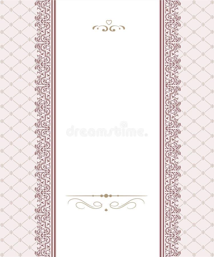 Diseño Del Marco De La Plantilla Para La Tarjeta Ilustración del ...