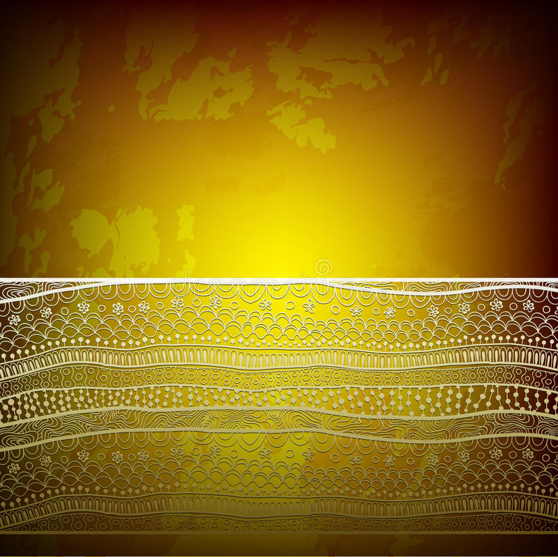 Diseño del marco de la plantilla para la tarjeta con la cinta del cordón. libre illustration