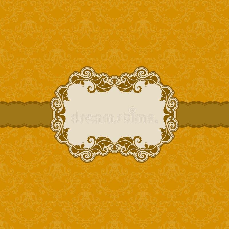 Diseño del marco de la plantilla para la tarjeta de felicitación. ilustración del vector