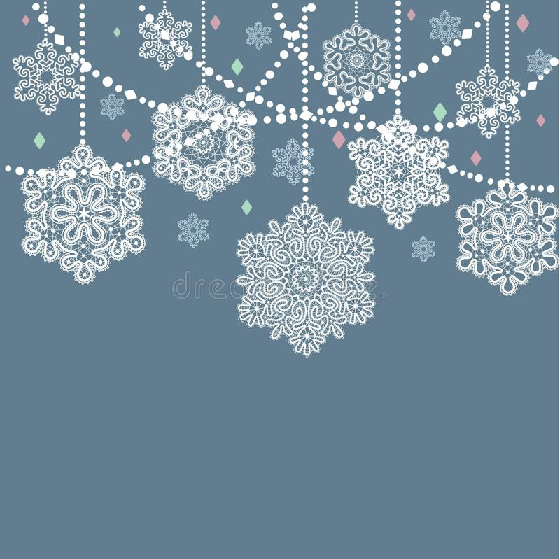 Diseño del marco de la plantilla para la tarjeta de Navidad libre illustration