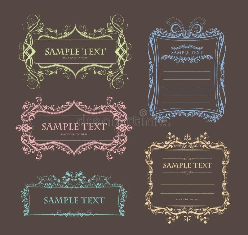 Diseño del marco de la vendimia ilustración del vector
