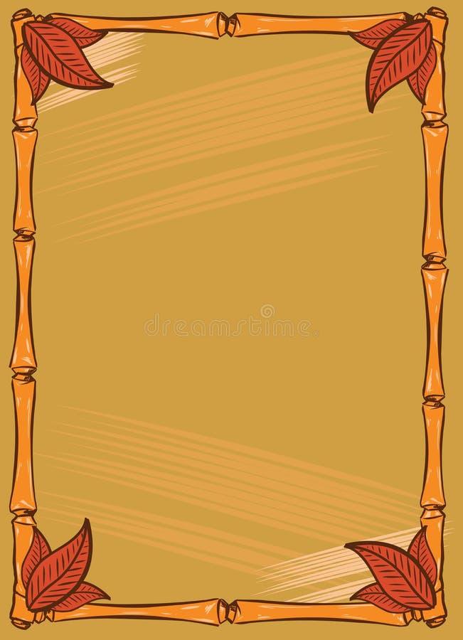 Diseño Del Marco Del Estilo De La Barra De Tiki Ilustración del ...