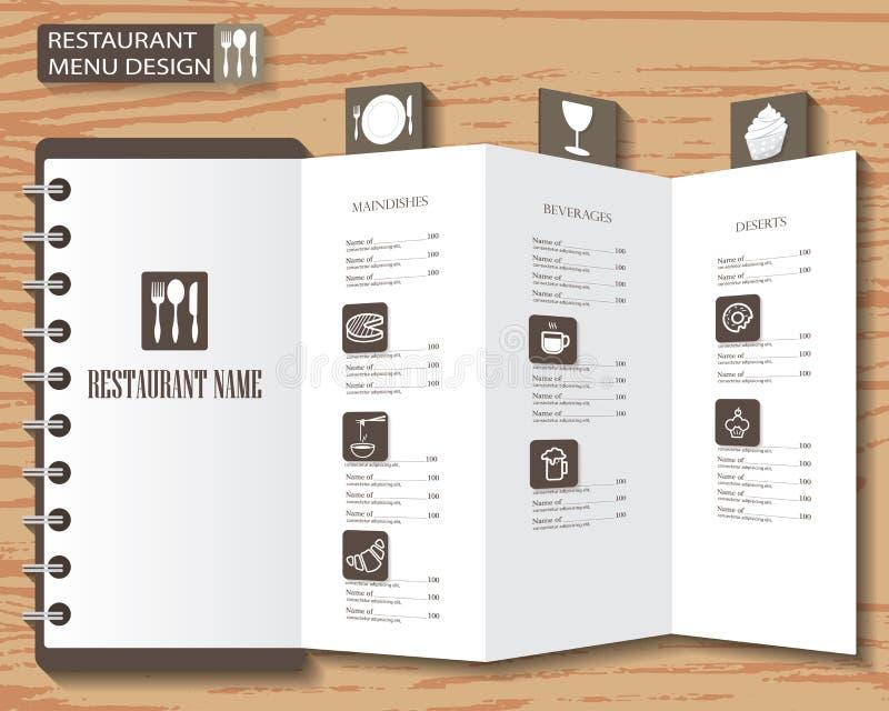Diseño del menú ilustración del vector
