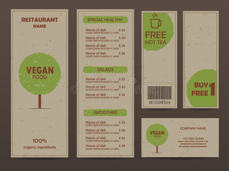 Diseño del menú libre illustration