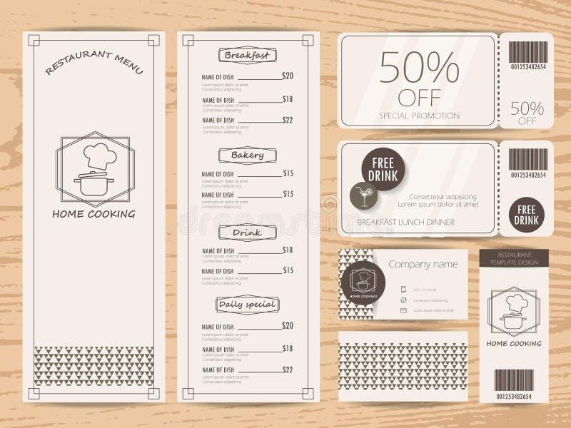 Diseño del menú stock de ilustración