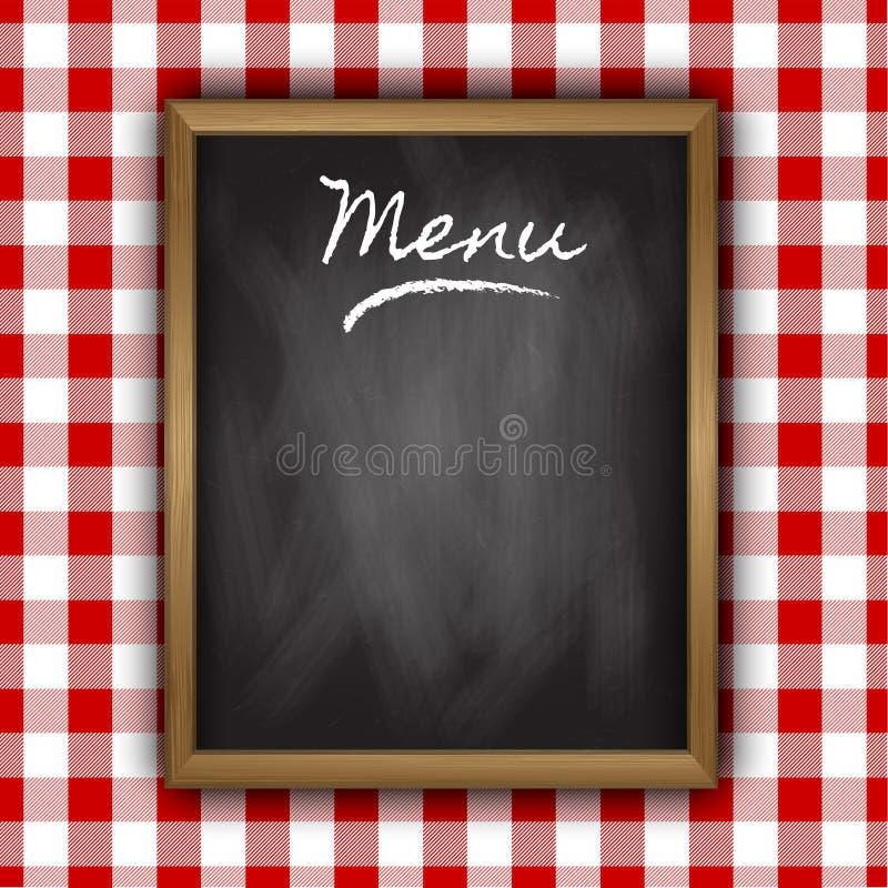 Diseño del menú de la pizarra ilustración del vector