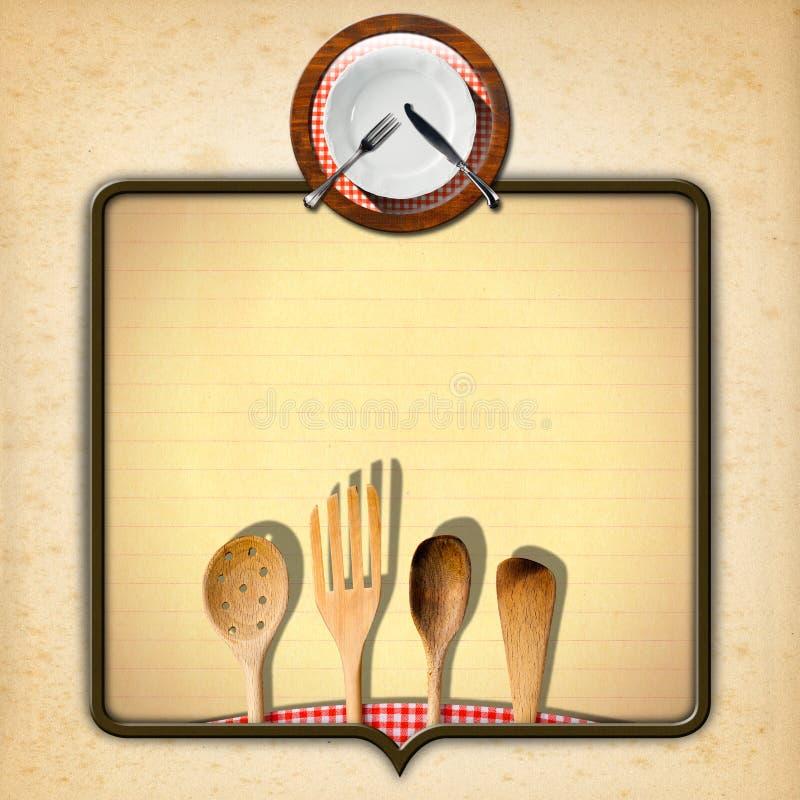 Diseño del menú de la vendimia ilustración del vector