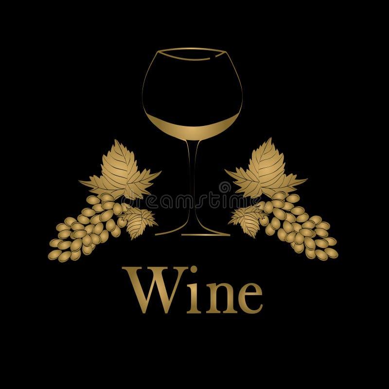 Diseño del menú del concepto de la copa de vino libre illustration