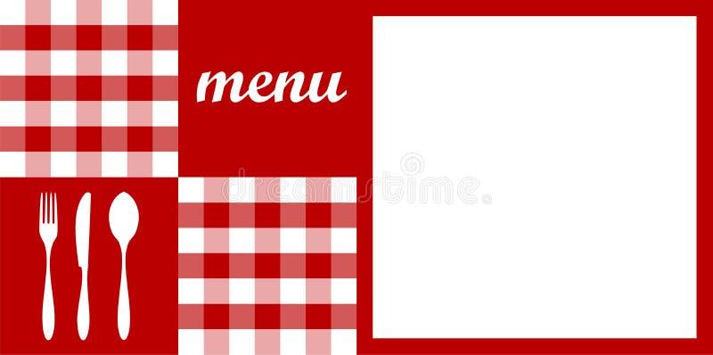 Diseño del menú. Mantel rojo. libre illustration