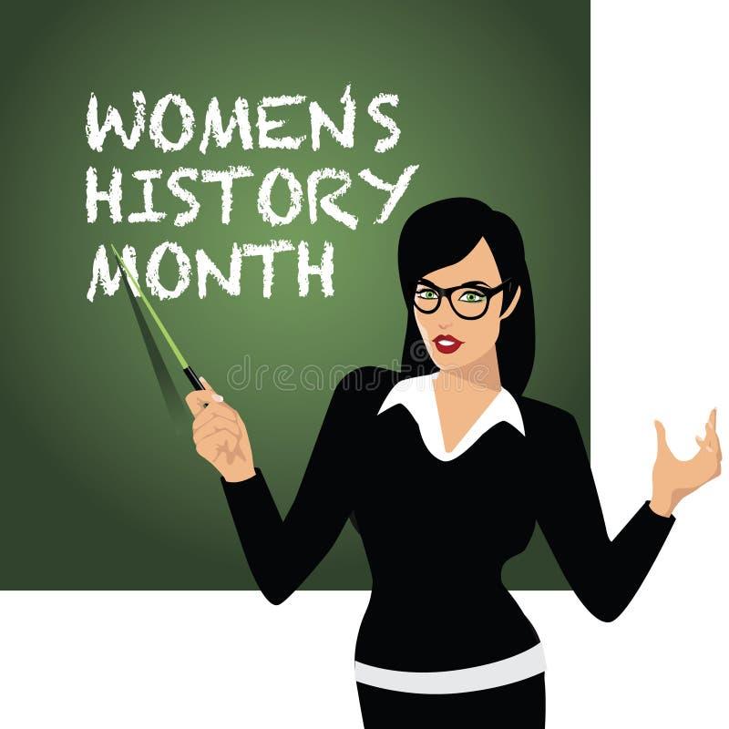 Diseño del mes de la historia de las mujeres stock de ilustración