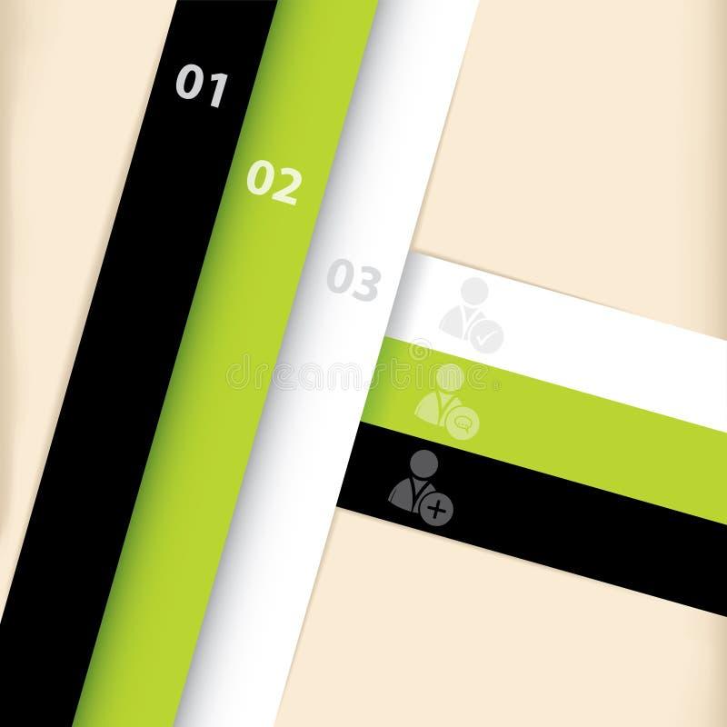 Diseño del modelo de Infographic con la red social ic stock de ilustración