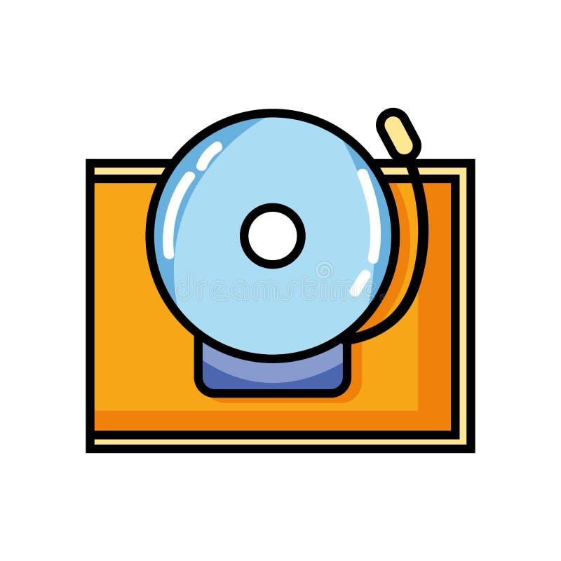 Diseño del objeto de la alarma de la campana de escuela stock de ilustración
