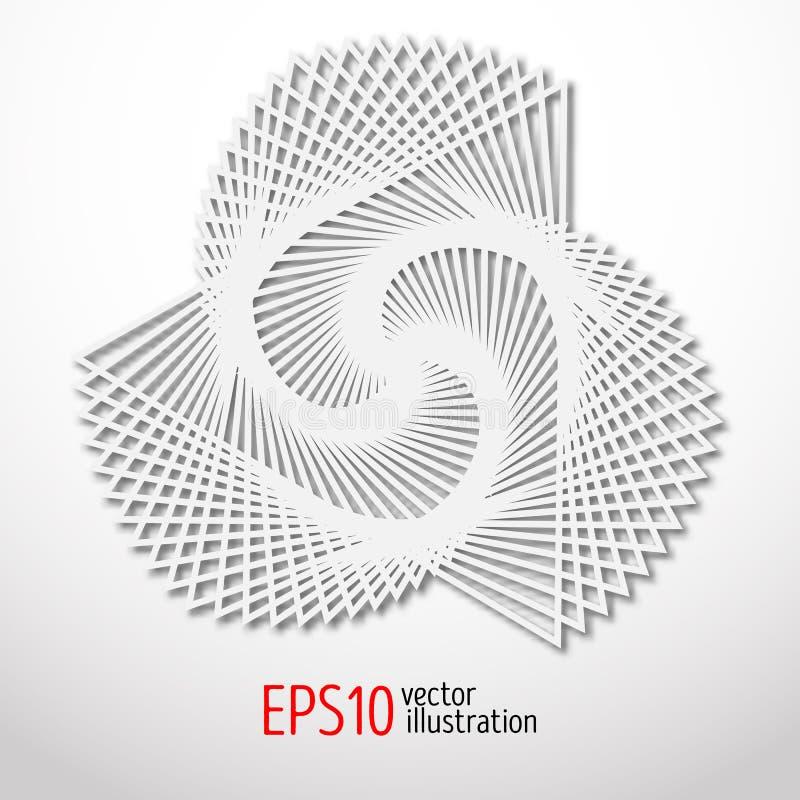 Diseño del papel 3d Forma sacra del misterio de la geometría Diseño del arte abstracto libre illustration