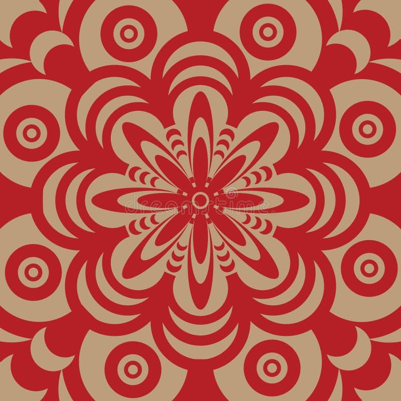 Dise o del papel pintado de los a os 60 ilustraci n del - Papel pintado anos 60 ...