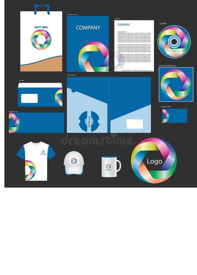 Diseño del paquete de la identidad corporativa con el logotipo libre illustration