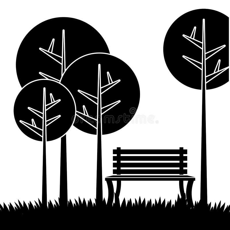 Diseño del parque, ejemplo del vector libre illustration