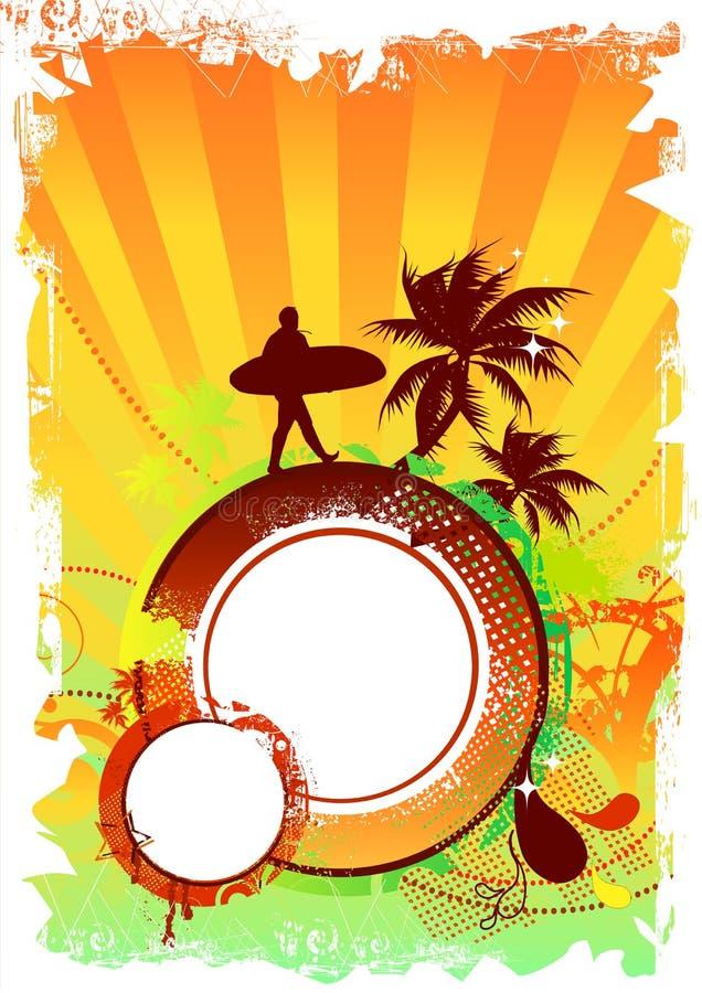 Diseño del partido de la playa stock de ilustración