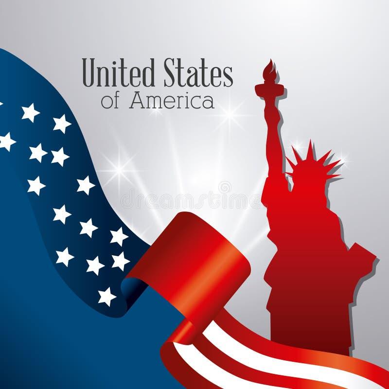 Diseño del patriotismo de Estados Unidos stock de ilustración