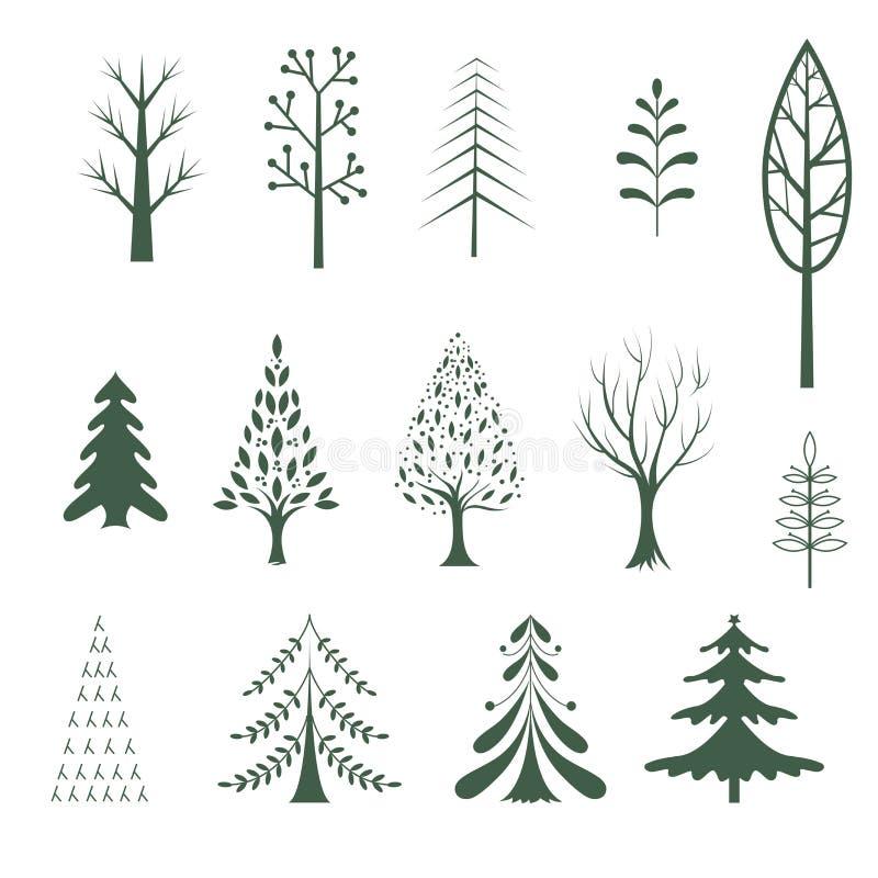 Dise o del perfil del rbol de navidad ilustraci n del - Diseno de arboles de navidad ...
