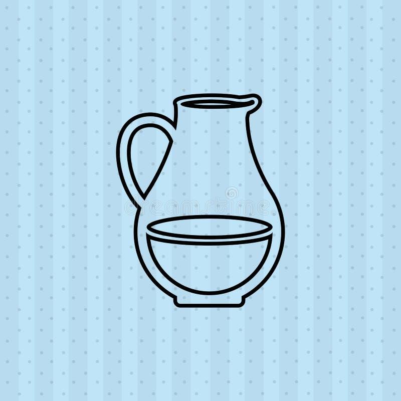 diseño del producto lácteo stock de ilustración