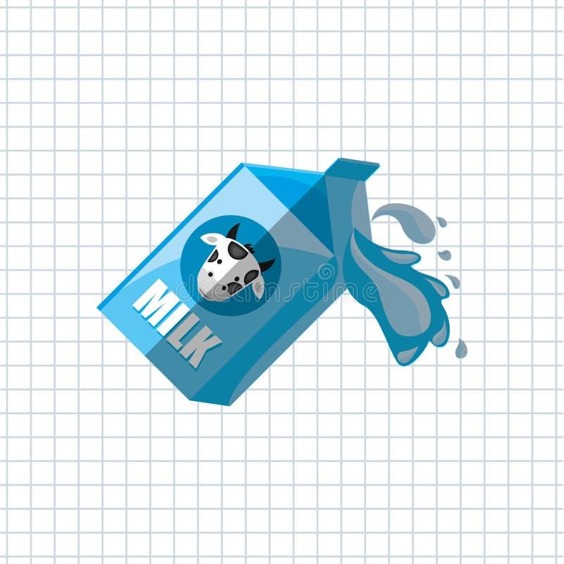 diseño del producto lácteo ilustración del vector
