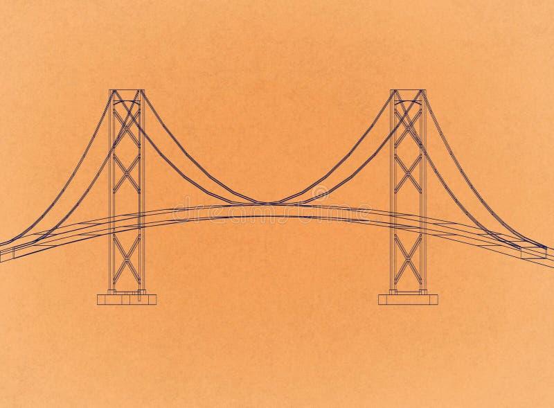 Diseño del puente - arquitecto retro Blueprint libre illustration