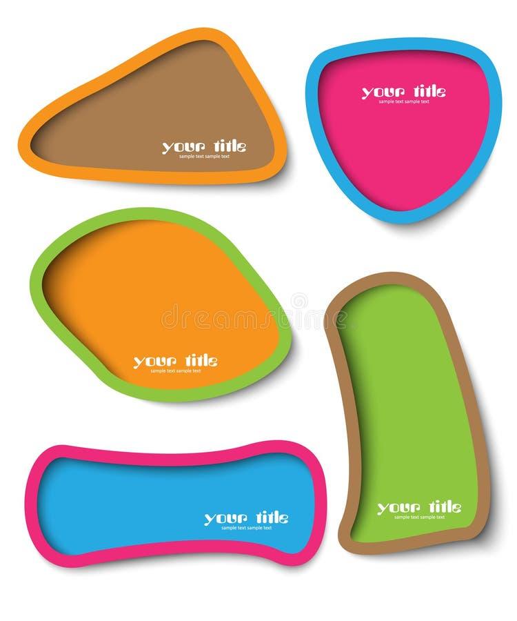 Diseño del rectángulo de texto ilustración del vector