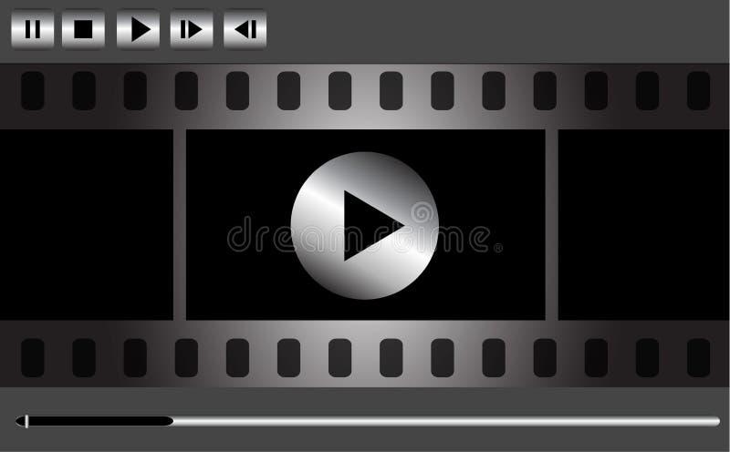 Diseño del reproductor multimedia del vector stock de ilustración