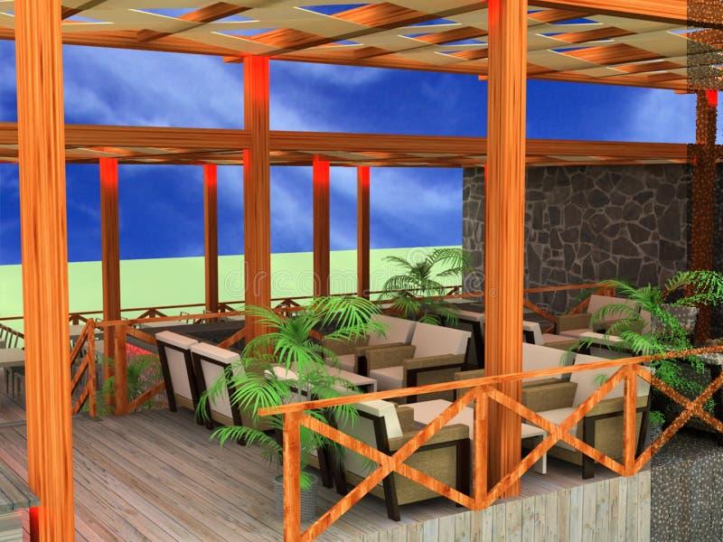 diseño del restaurante 3D libre illustration