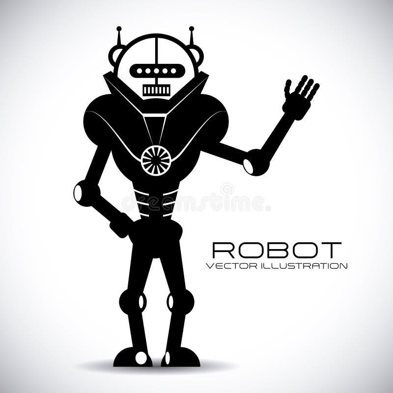 Diseño del robot ilustración del vector