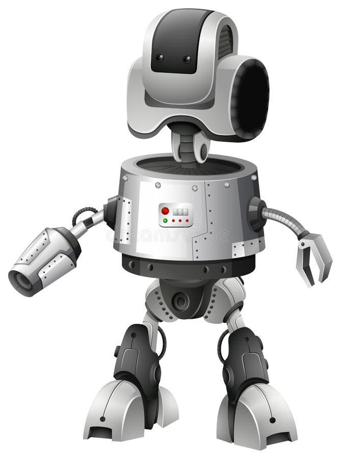 Diseño del robot con las características anticipadas ilustración del vector