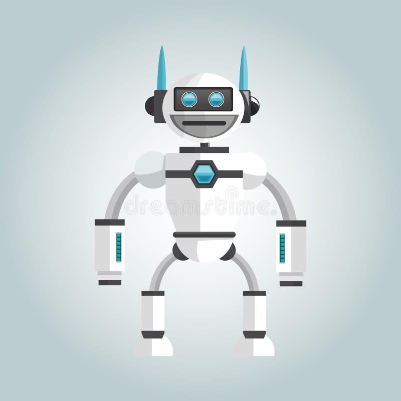 Diseño del robot Concepto de la tecnología icono del humanoid stock de ilustración