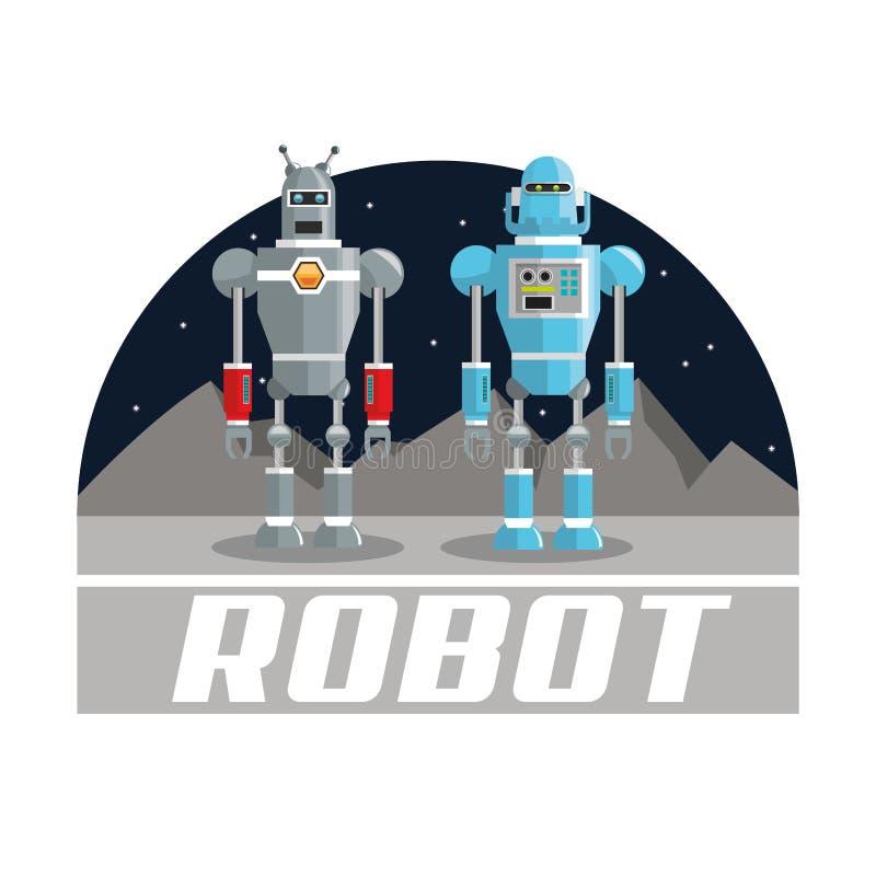 Diseño del robot Concepto de la tecnología Ilustración colorida ilustración del vector