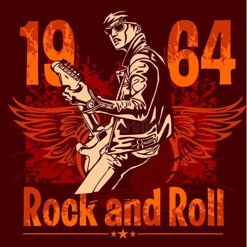 Diseño del rock-and-roll - cartel del vector libre illustration
