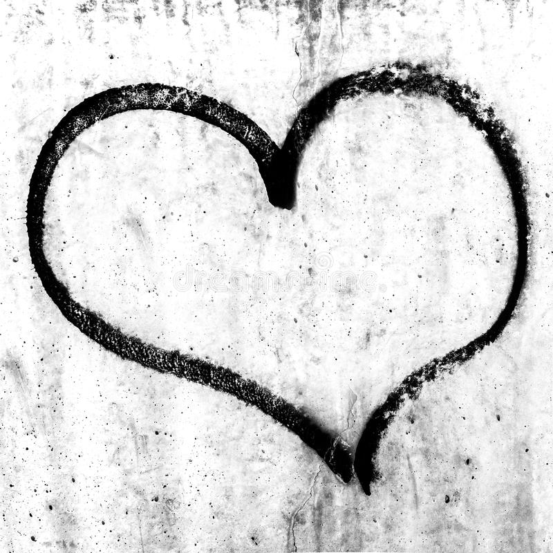 Diseño del símbolo del corazón del Grunge fotografía de archivo