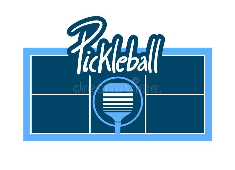 Diseño del símbolo de Pickleball stock de ilustración