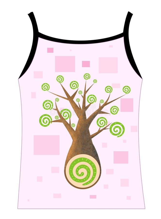 Diseño del símbolo del árbol stock de ilustración
